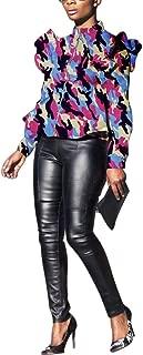 LESTVDO Women Casual Long Sleeve Camo Jacket Cardigan Full Zipper Coat Plus Size