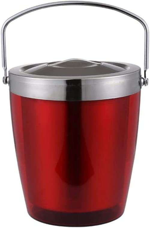 WJCCY Dark Red Ice Cheap sale Bucket with Now on sale Personality Lid Double
