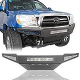 u-Box Tacoma Front Bumper Discovery Full Width Bumper Guard w/ 120W LED Light Bar & Skid Plate for Toyota Tacoma 2005-2015 2nd Gen Pickup Trucks