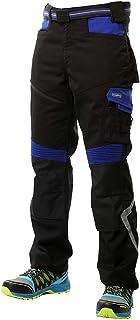 Goodyear Workwear GYPNT010 - Pantalones de trabajo para hombre, con bolsillos y bolsillos, color negro/azul real, talla 30...