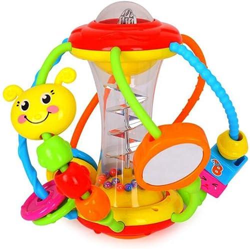 TLMYDD Baby Puzzle Balls Perlenperlen Babyrassel Hand Ballspielzeug, 17x17cm Lernspielzeug für Kinder
