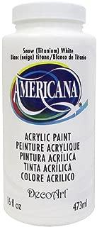 DecoArt DEC65.01 Americana Acrylics 16oz Snow White