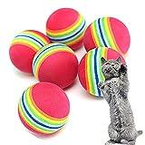 KTENME 3-teiliges Eva-Material schwimmendes Katzenspielzeug Super Q Rainbow Ball