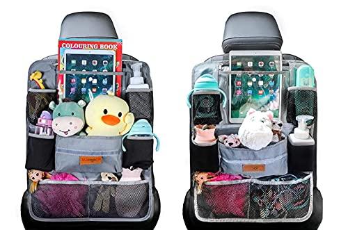WWXIN - Organizador de asiento de coche mejorado para almacenamiento de asiento trasero a prueba de agua (2 unidades)