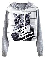 NAWONGSKY Women's Cute Fashion Hoodie Crop Top Sweatshirt