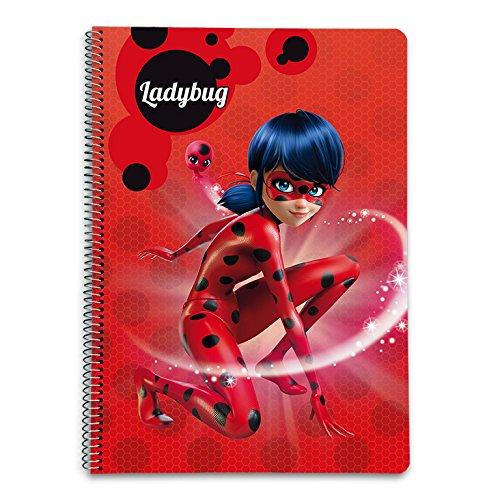 Grupo Erik Editores Ladybug - Cuaderno con tapa dura,...