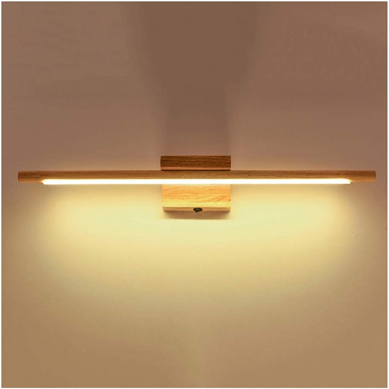 William 337 Spiegel Frontleuchte LED Make-Up Lampe Spiegel Kabinett Licht Wandlampe Kommt Mit Schalter Bad Lampe Massivholz [Energieklasse A +] (Farbe   Warmes licht)