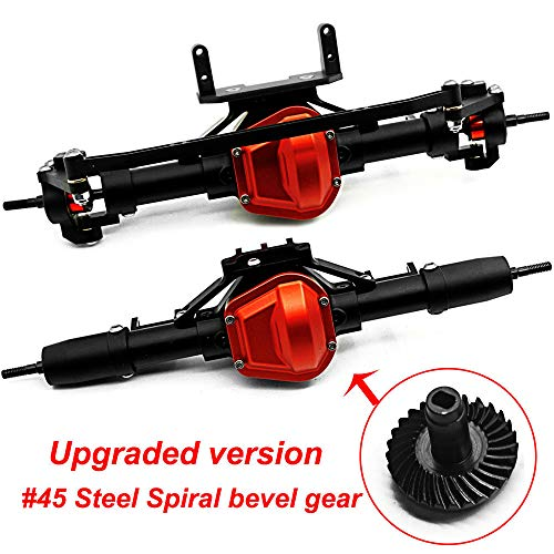 Benedict Harry CNC Aluminum Axle Front & Rear Axle for AXIAL SCX10 1:10 RC Crawler Truck Black (Front & Rear Axle)