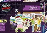 KOSMOS 680725 - Puzzle de Krimi, diseño de escándalo en el Torneo, Brilla en la Oscuridad, 200 Piezas, Lectura – puzles – Resolver los Puzzles – Incluye Caja Secreta e Historia Corta