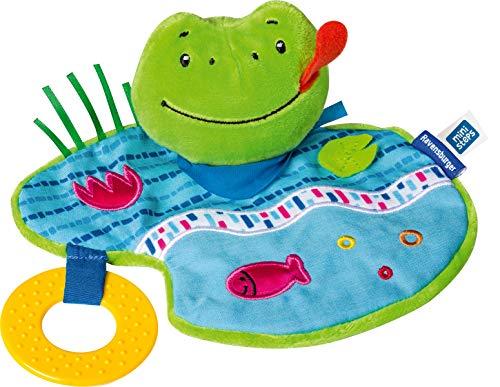 Ravensburger ministeps 4156 Knister-Frosch, Schmusetuch mit Beißring und Knister-Geräusch, Baby Spielzeug ab 0 Monate