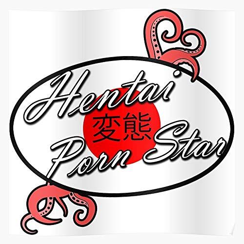 Funny Japanese Japan Red Hentai Porno Star Porn Regalo para la decoración del hogar Wall Art Print Poster 11.7 x 16.5 inch