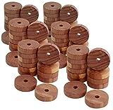 all-around24 24 anillos antipolillas de madera de cedro, trampa para polillas para armario y apartamento