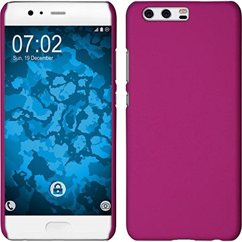 Preisvergleich Produktbild PhoneNatic Case kompatibel mit Huawei P10 Plus - Hülle pink gummiert Hard-case + 2 Schutzfolien