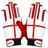 ARSUK Torwarthandschuhe Kinder & Jugendliche, Fußball-Handschuhe, mit Fingersave,Rutschfes, Gewährung von Starken Schutz für Finger Unisex Kinder (England-Size:06)