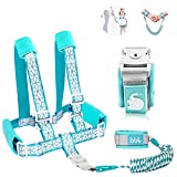 Toddler Leash for Walking, Toddler Safety Harnesses Leashes, Safety Harness with Lock for Kids, Anti Lost Wrist Link Safety Wrist Link for Toddlers ,Upgrade with Reflective Tape Liner(6.5ft)for Kids
