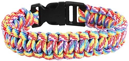 Cham Cham textil pulsera trenzado multicolor multicolor con ranuras cierre 000708400014Longitud 19cm, ancho 20mm