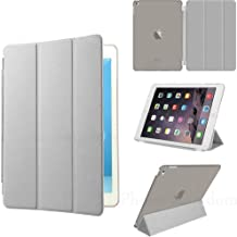 GRAY ULTRA THIN MAGNETIC LEATHER SMART CASE COVER STAND FOR APPLE iPAD 2 iPAD 3 iPAD 4