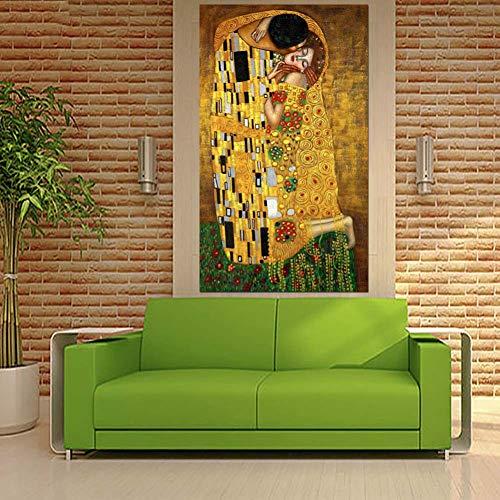 WLHAL Prints Canvas/Home Decor Muurdecoratie Canvas Prints Modulair 1 Stuks Knuffel Door Afbeeldingen Geen Frame Schilderen Abstract Poster Woonkamer 70x150cm No Frame
