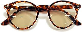 MERRY PLEASURE (メリープレジャー) 曇らない サングラス 伊達メガネ ボストン 丸メガネ 丸型 ライトカラーレンズ カラーレンズサングラス 色付き 薄い色 メンズ レディース UVカット 2107afgcl