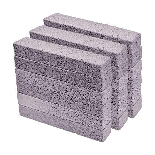 Kamenda 18 Piezas Piedras PóMez Limpiador de Palos, Estropajo de Piedra PóMez Gris para Limpiar el Anillo de la Taza del Inodoro, el Ba?O, el Hogar, la Cocina