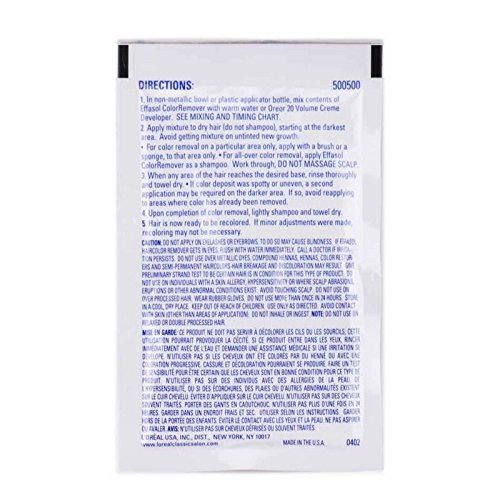 Loreal Effasol Color Remover Packets 7/8 oz - 2 PACK by L'Oreal