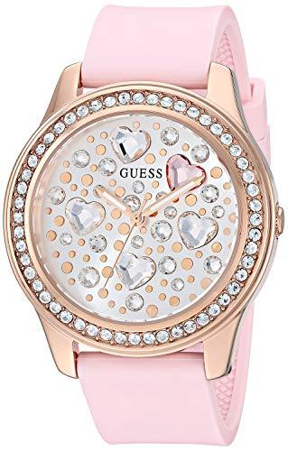 Guess Watches Ladies Heartbeat Reloj para Mujer Analógico de Cuarzo con Brazalete de Silicona GW0006L2