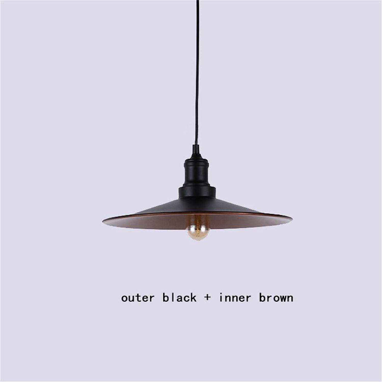 TOYM UK Classique parapluie noir Retro noble lustre restaurant créatif bar bar chandelier décoratif (Couleur   Outer noir+inner marron)
