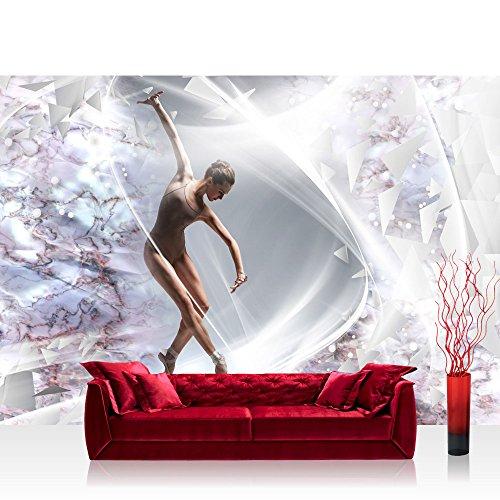 Vlies Fototapete 208x146cm PREMIUM PLUS Wand Foto Tapete Wand Bild Vliestapete - Sport Tapete Frau Tanzen Ballett Keramik Elemente natural - no. 2518