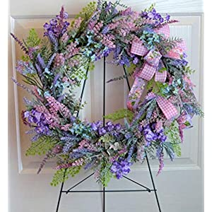Spring Cemetery Wreath with Wildflowers, Cemetery Wreath Mother's Day, Wildflower Grave Wreath