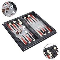 Keyohome Scacchiera Magnetica 3 in 1 Set di Scacchiera Pieghevole e Portatile con Magnetici Scacchi Dama Backgammon per Bambini e Adulti per Viaggi #2