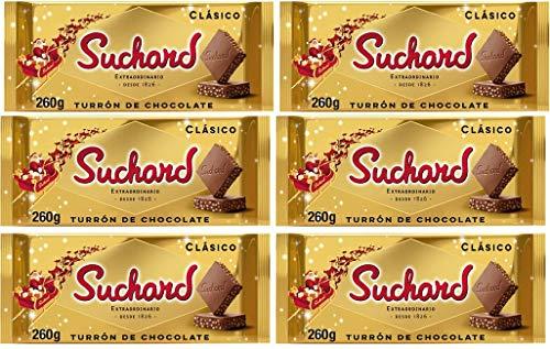 Suchard Turron Chocolate 260gr–Juego de 6