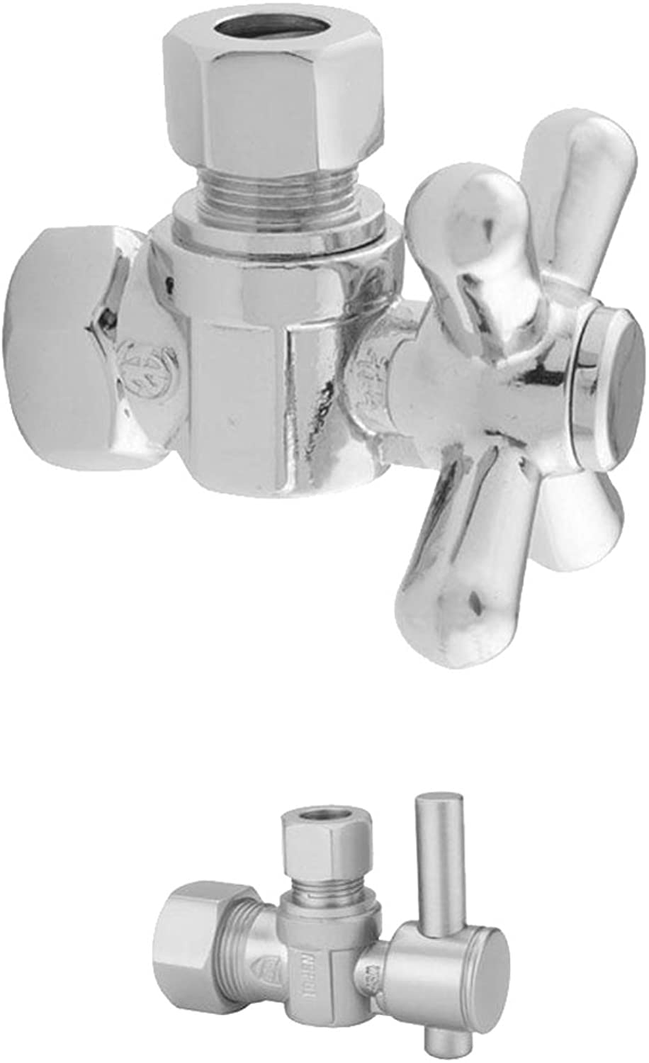 Jaclo 615-2-PCH 3 8  IPS x 3 8  OD Angle Valve with Lever, Polished Chrome