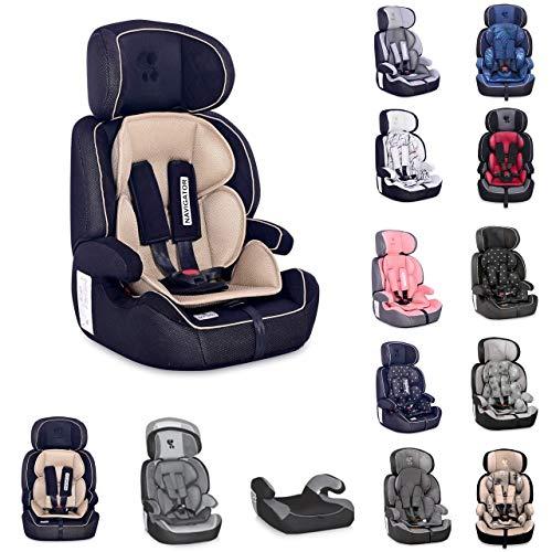Asiento infantil Lorelli Grupo Navigator 1/2/3 (9-36 kg) 1 a 12 años convertible, colores:beige