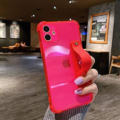 Odnryx iPhone 12 Pro 11PRO MAX XS MAX XR Color TELÉFONO Transparente TELÉFONO del TELÉFONO iPhone 7 7 Plus, T1, Soporte DE Silicona para iPhone 12PRO MAX