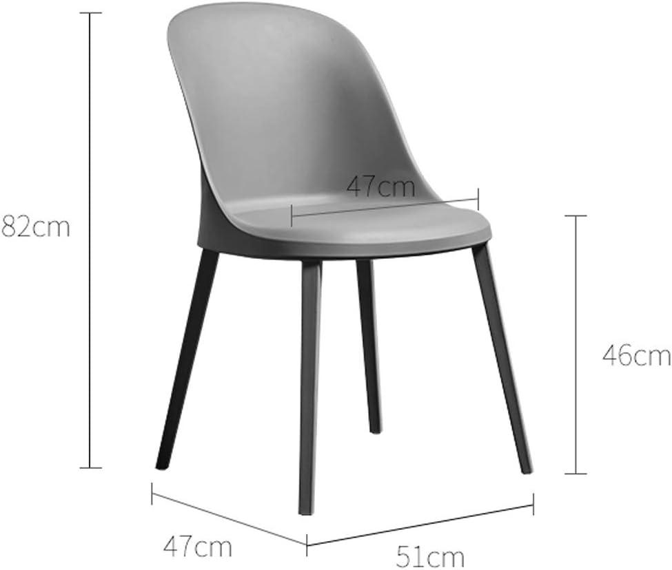 FENDOU Chaise de salle à manger simple, dossier créatif, chaise de loisirs, chaise de salle à manger pour adulte, mode (couleur : blanc) Rouge