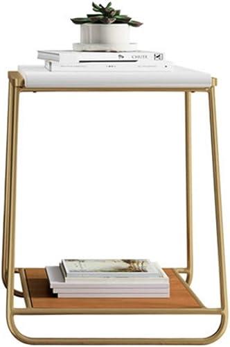 NAN Table d'appoint, Table d'appoint, Table Basse, avec Structure en métal, Facile à Assembler, pour Le Salon, la Chambre à Coucher, la Cuisine