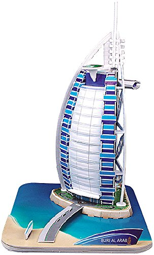 3D Modelado Rompecabezas: Fascinante Rompecabezas 3D Burj al Arab Dubai, 44 Piezas de Rompecabezas (niños Juguete)