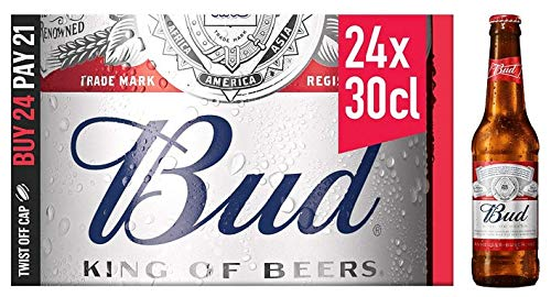 BUD Bier 24x0,3L Glasflaschen Alkhohol 5.0% Nr. 1 USA Beer