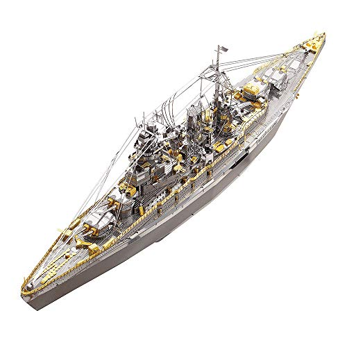 Piececool 3D Metal Model Kits for Adults - Nagato Class Battleship DIY 3D Metal Jigsaw Puzzle for Adults