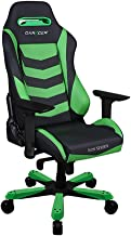 DXRacer Iron Series DOH/IB166/NE Newedge Edition Racing Bucket Seat Office Chair X Large PC Gaming Chair Computer Chair Executive Chair Ergonomic Rocker with Pillows (Black/Green)