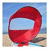 anxia Kayak Hinchable 2 plazas 42' / 108cm Kayak Barco de remos Ligero Plegable del Viento Vela Canoa Sup Paddle Board con la Ventana Clara Deriva Navegación Accesorios (Color : Red)