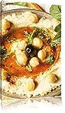 Pixxprint Leckerer Hummus/Format: 60x40cm / Leinwandbild