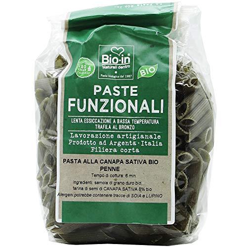 Oltresole – Penne di grano duro e canapa sativa biologica, 350 g, pasta artigianale italiana