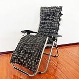 LINGXIYA Cojín grueso para silla de jardín relajante, cómodo y duradero, cojín reclinable antideslizante, cojín de asiento reclinable para interior y exterior