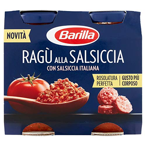 4x Barilla ragù alla salsiccia tomaten sauce 2x 180 g ragu mit Wurst nudel Soße