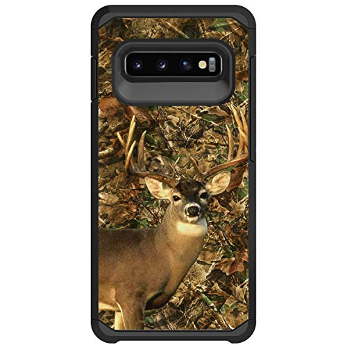 MINITURTLE Compatible with Samsung Galaxy S10 Plus, Samsung Galaxy S10+ G975U Slim Fitted Dual Layer Protective Case - Deer Hunting Camo