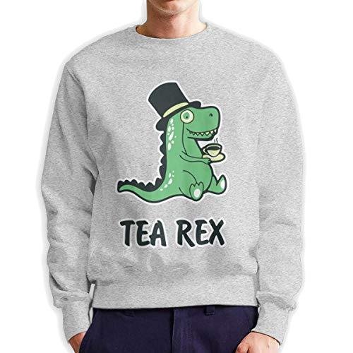 Top Groothandel Thee Rex Grappig Ontwerp mannen Crew Neck Sweatshirt Medium Dikte Trui voor Mannen