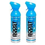 Boost Oxygen Natural Portable 10 Liter Pure Oxygen Canister, Peppermint (2 Pack)