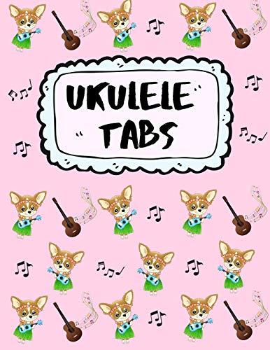 Ukulele Tabs: Leere Notenblatt mit Tabulatur für Ukulele Lieder und Akkorde | Schreibe deine eigene Uke Musik auf! | Ukulele Notizbuch | Ukulele Tabulatur für Anfänger
