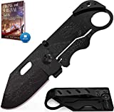 Grand Way Small Pocket Knife - Folding Wallet Knife - Mini Tactical Knife with Money Clip - Cool Dragon Blade Credit Card - Small Folding Knife - Birthday Christmas Gifts for Men and Women 6682